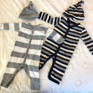 Burt's Bees Baby One-Pieces with Hats
